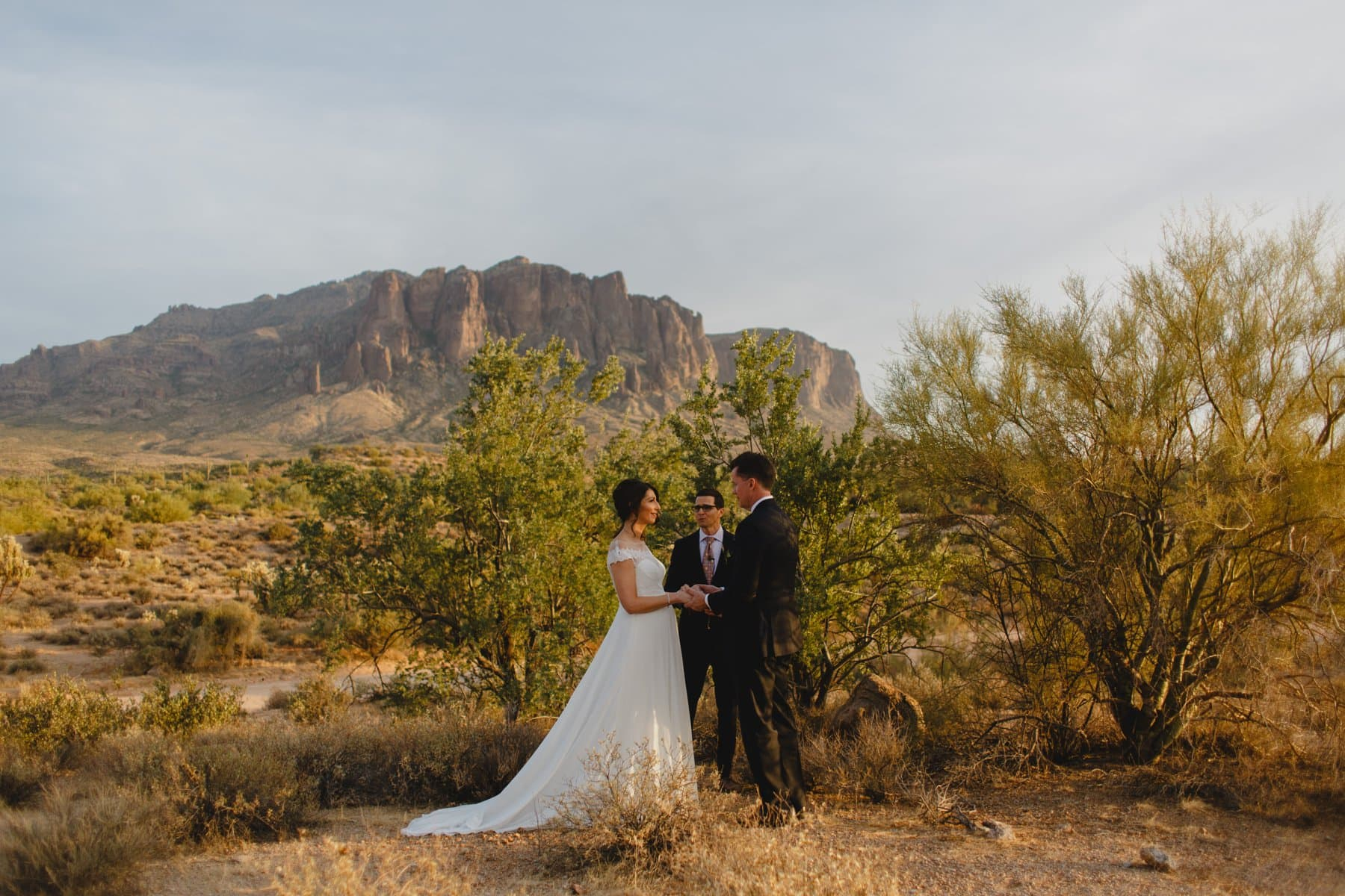 Arizona elopement Superstition Mountains ceremony