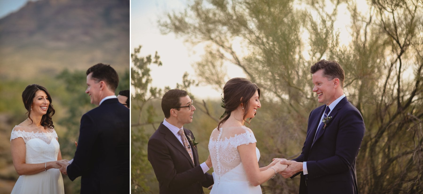elopement ring exchange Superstition Mountains