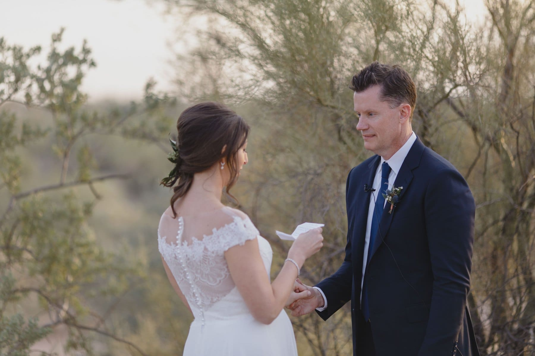 exchanging vows Arizona elopement photos