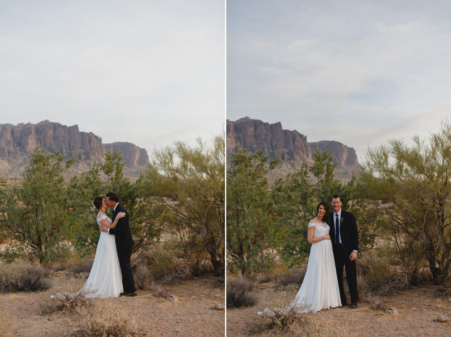 Arizona Superstition Mountains elopement