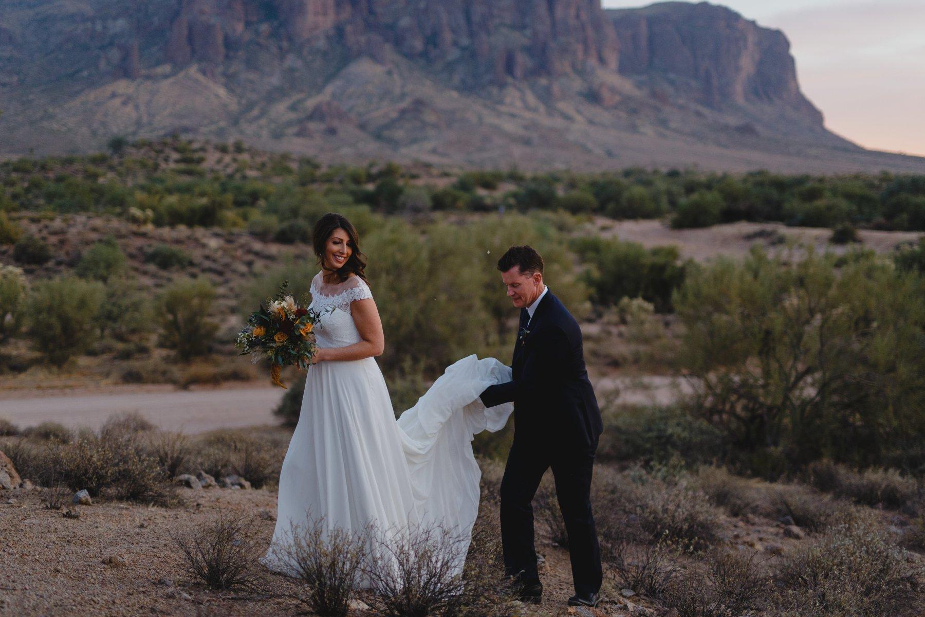 Arizona adventure elopement photographer Superstition Mountains