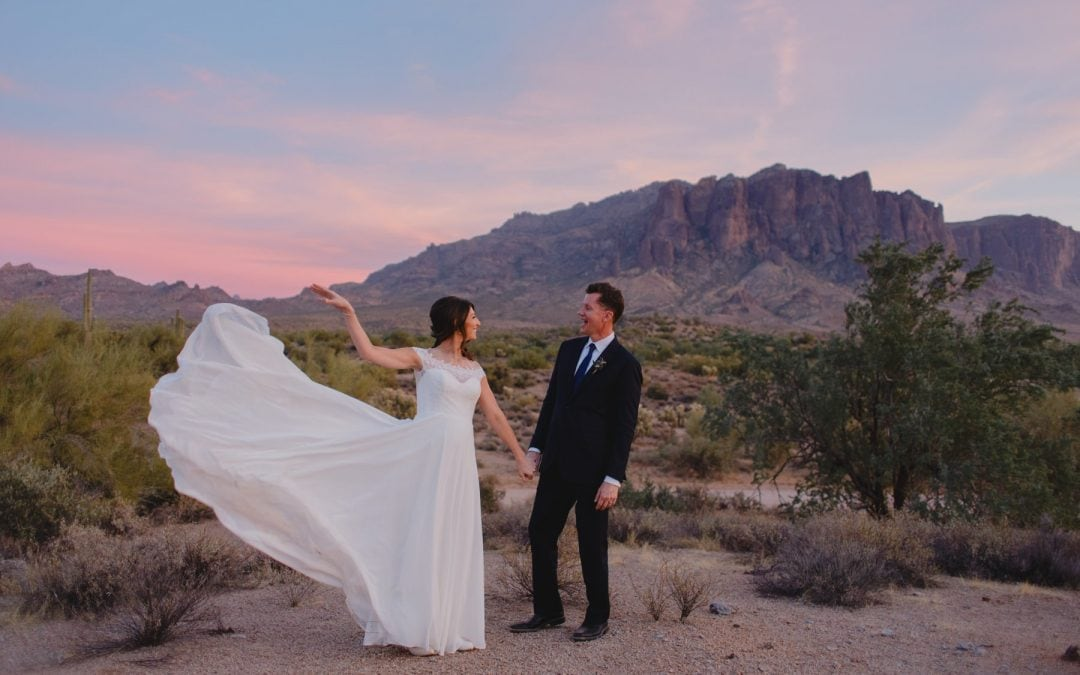 Katie & Scott's Superstition Mountains Elopement
