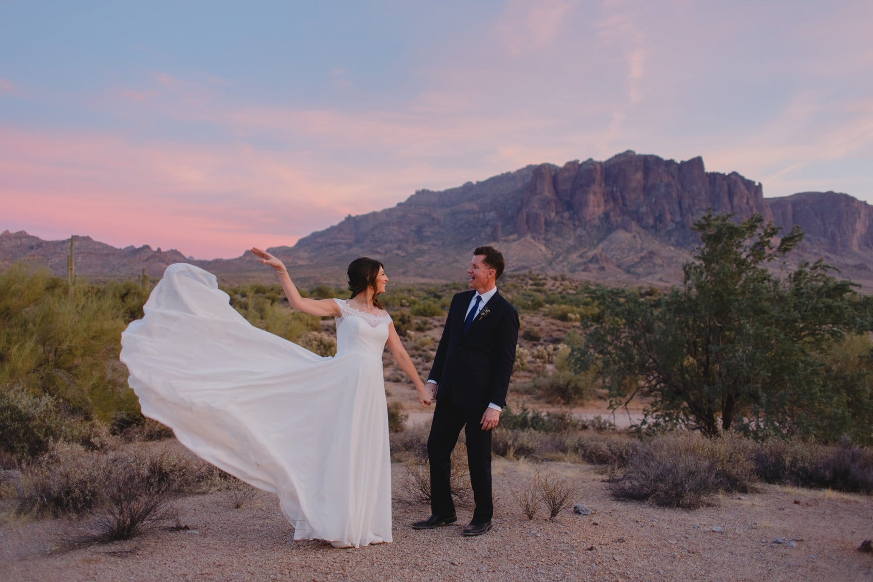 Arizona elopement at Superstition Mountains