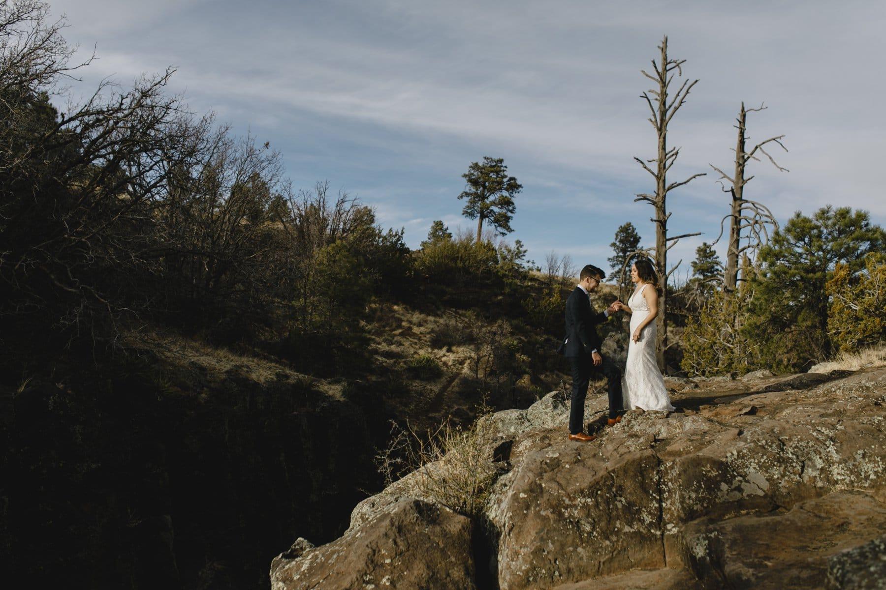 Flagstaff cliff elopement photos