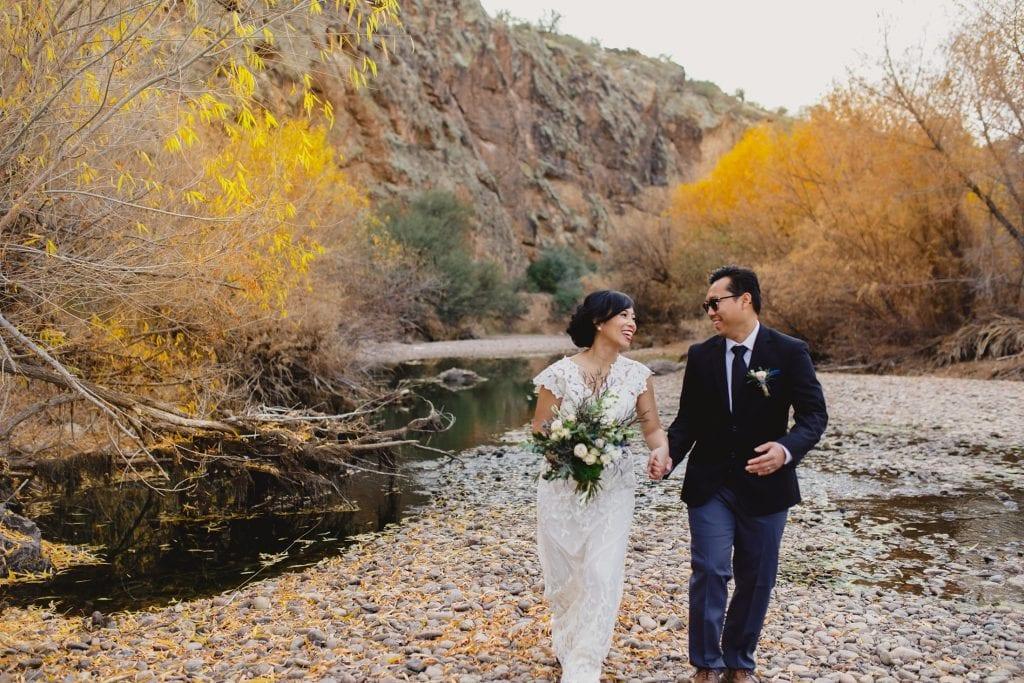 Arizona elopement in fall