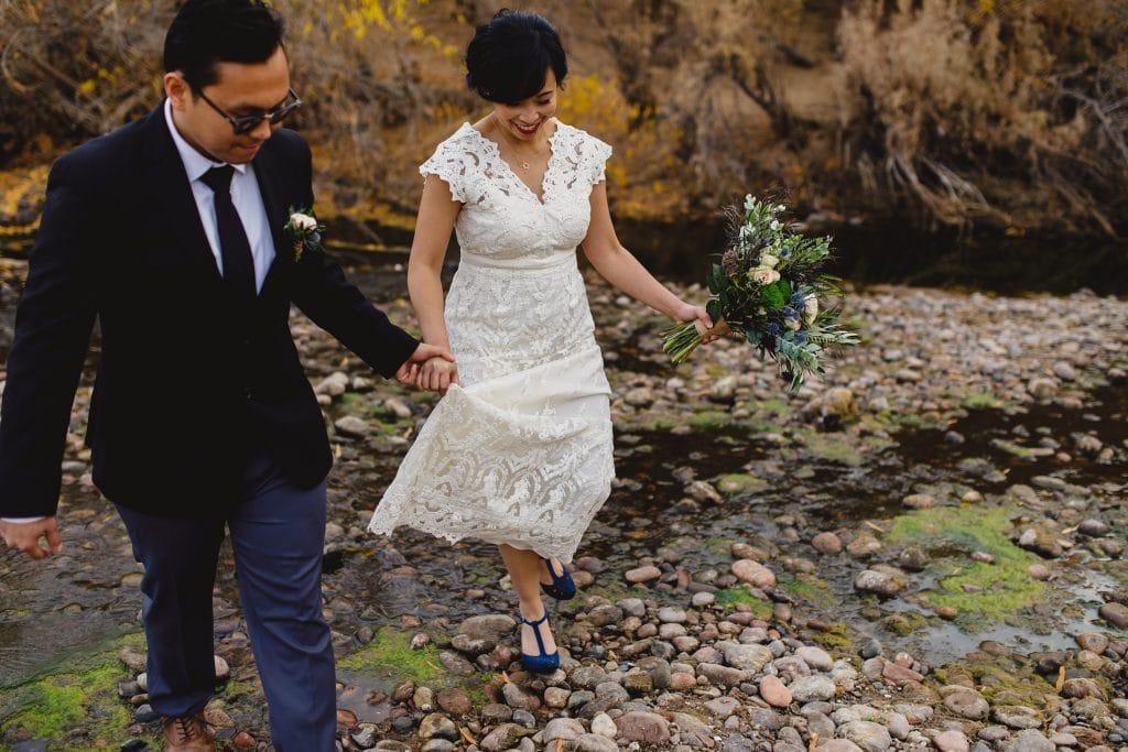 fall elopement in Arizona at Salt River