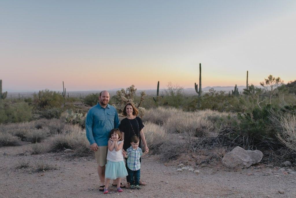 lifestyle family portraits in the desert Mesa