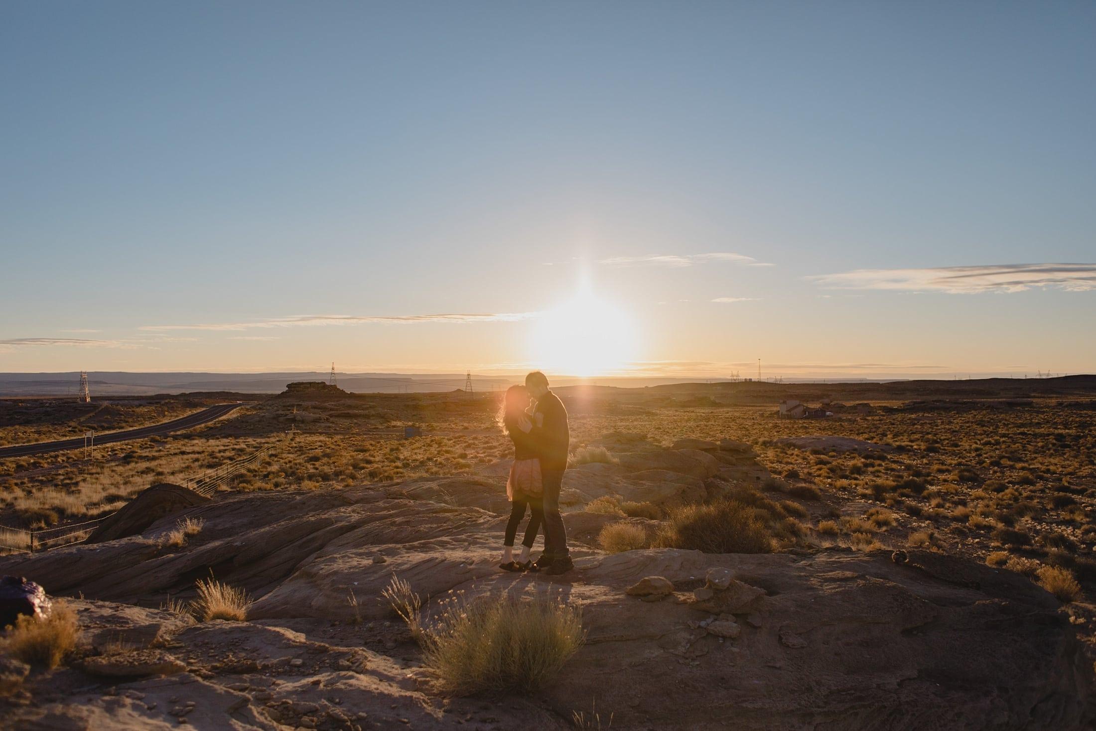 adventurous engagement photos in northern Arizona