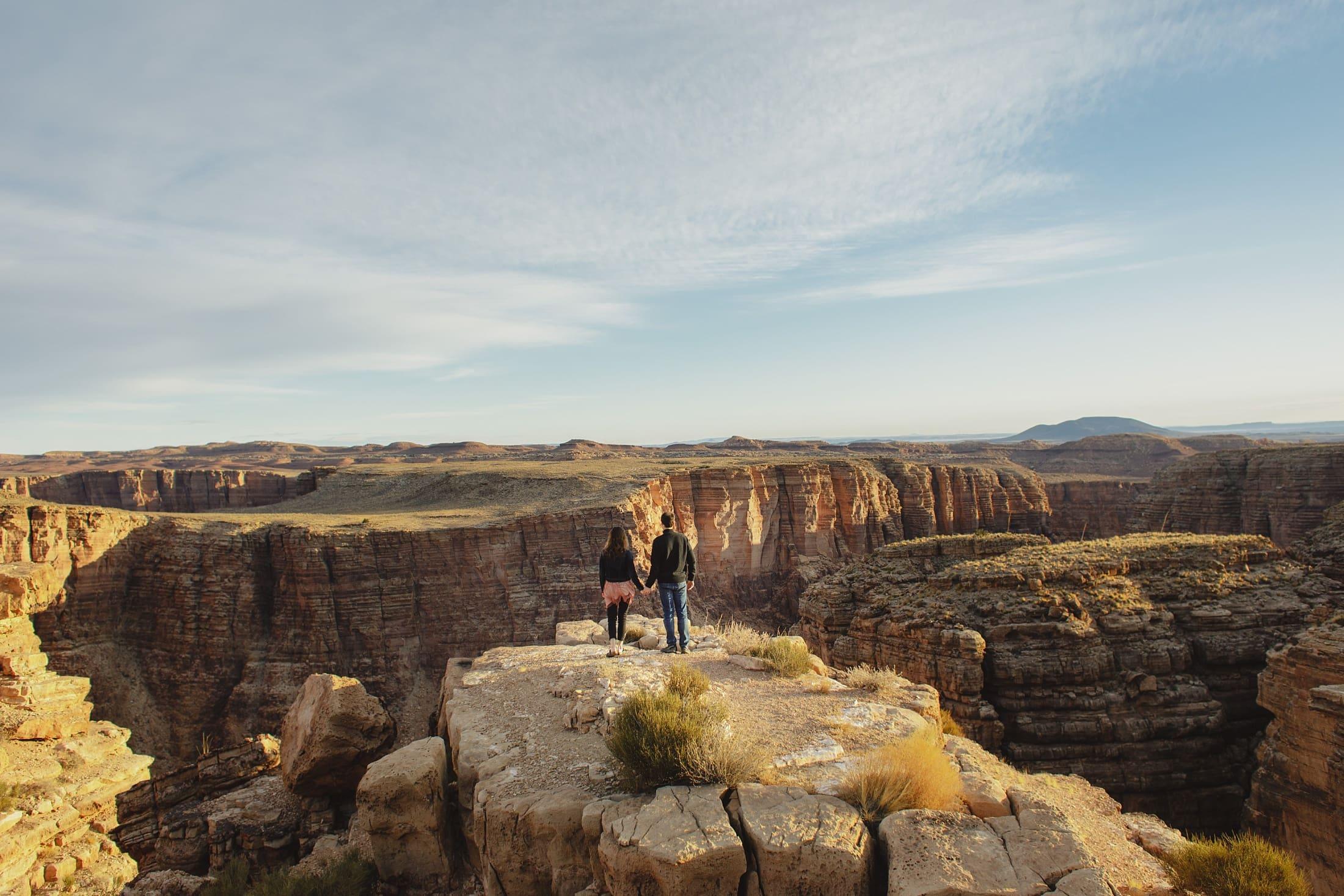 adventurous Grand Canyon engagement photos