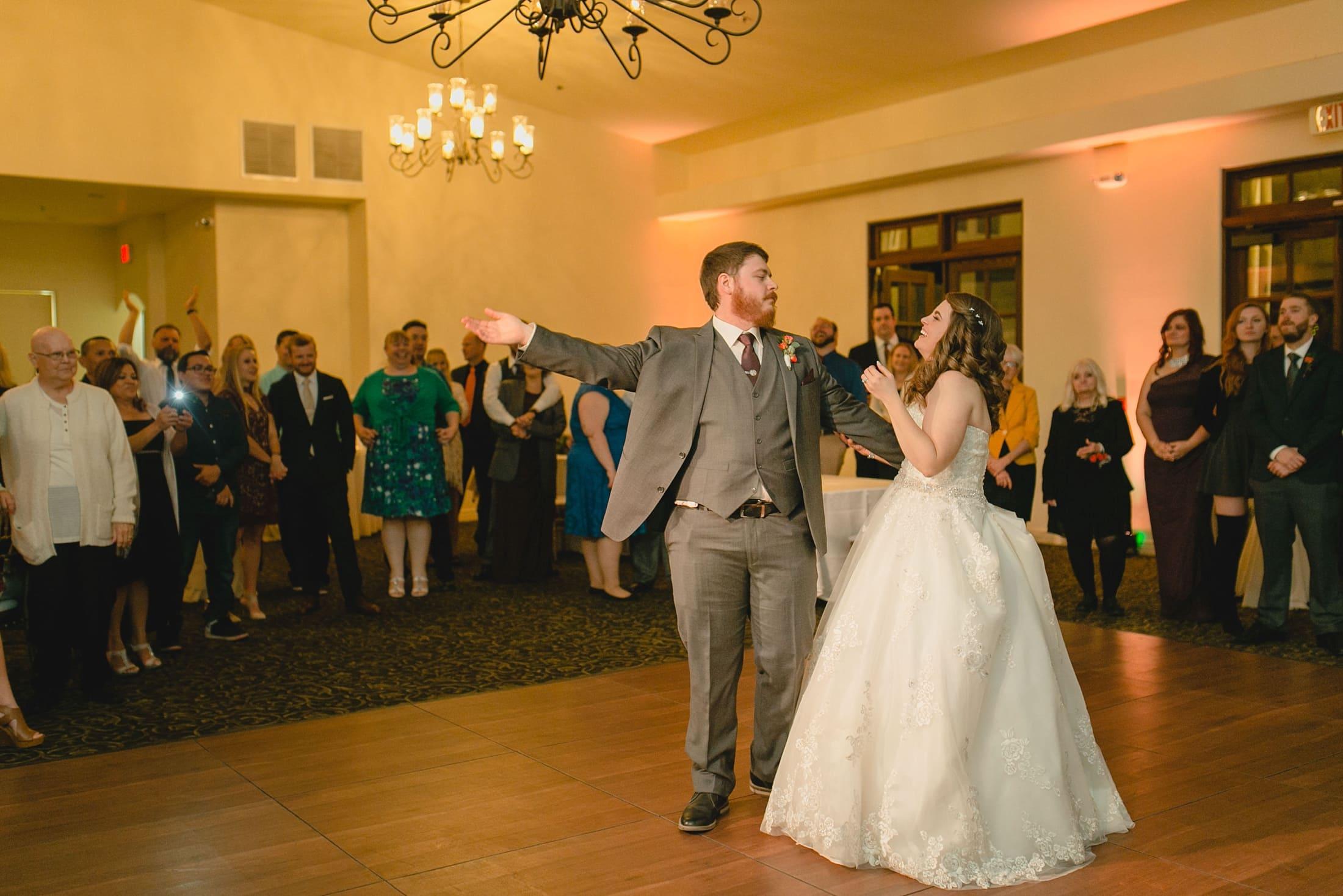 wedding first dance candid wedding photographer Arizona