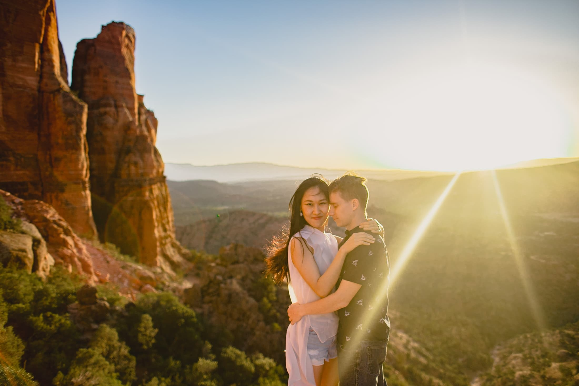 Sedona Cathedral Rock engagement photos