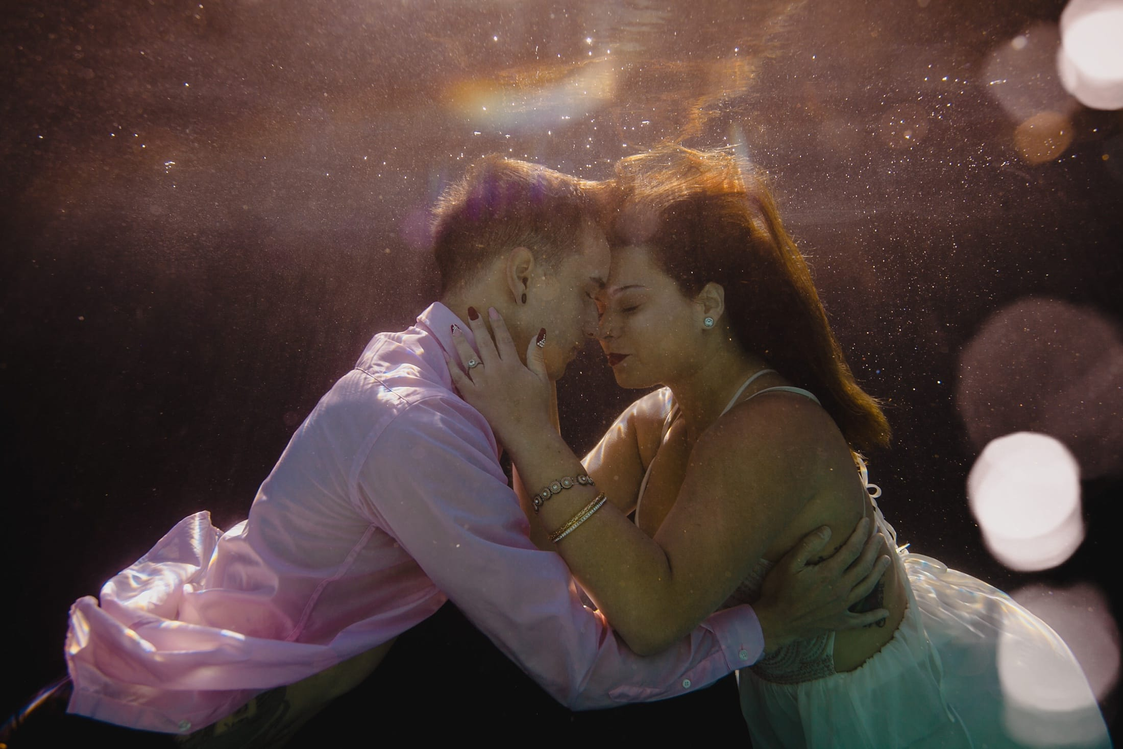 underwater elopement photos