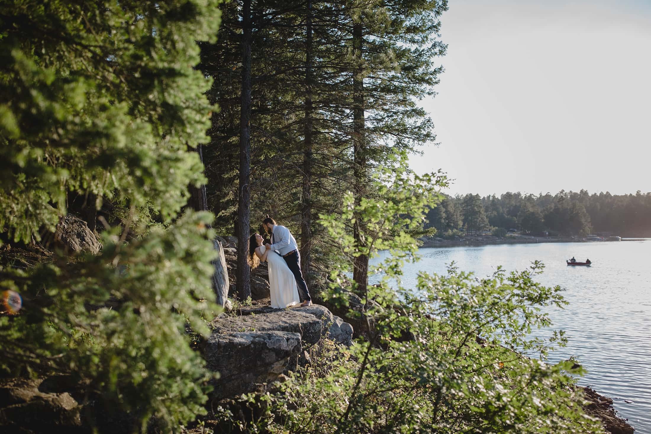 Woods Canyon Lake elopement