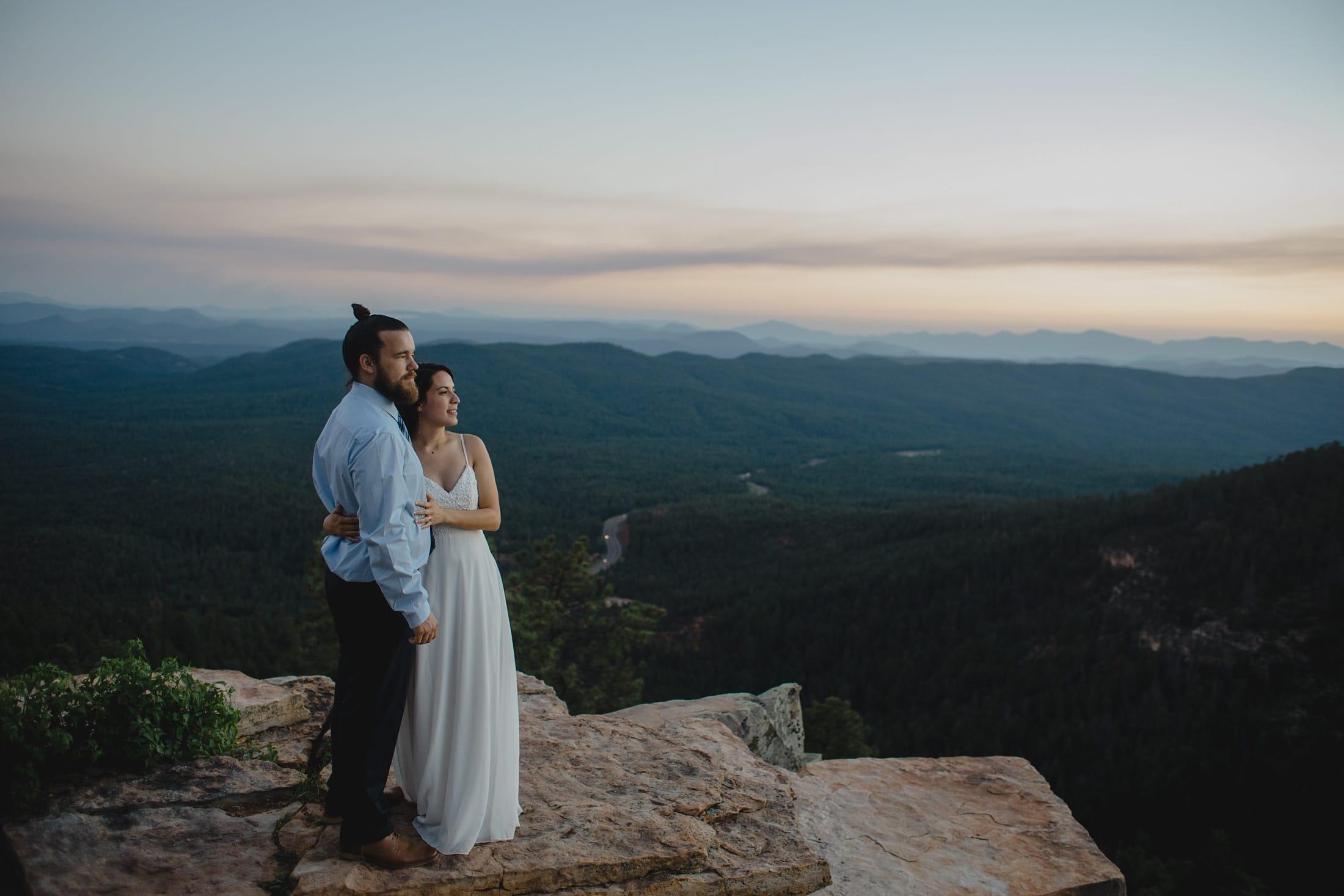 Mogollon Rim elopement photos