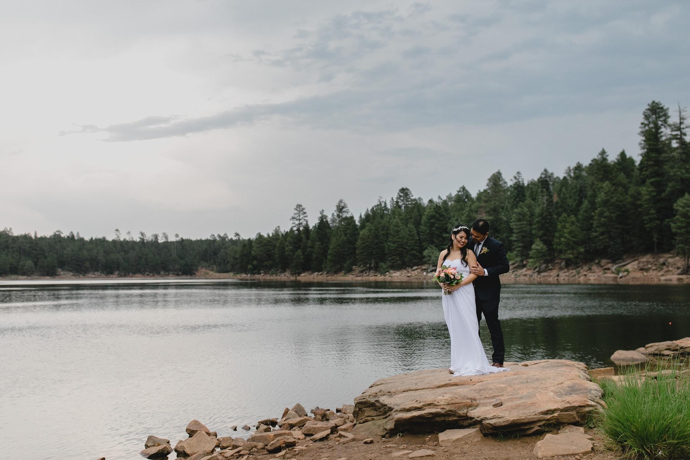 Woods Canyon Lake elopement photos