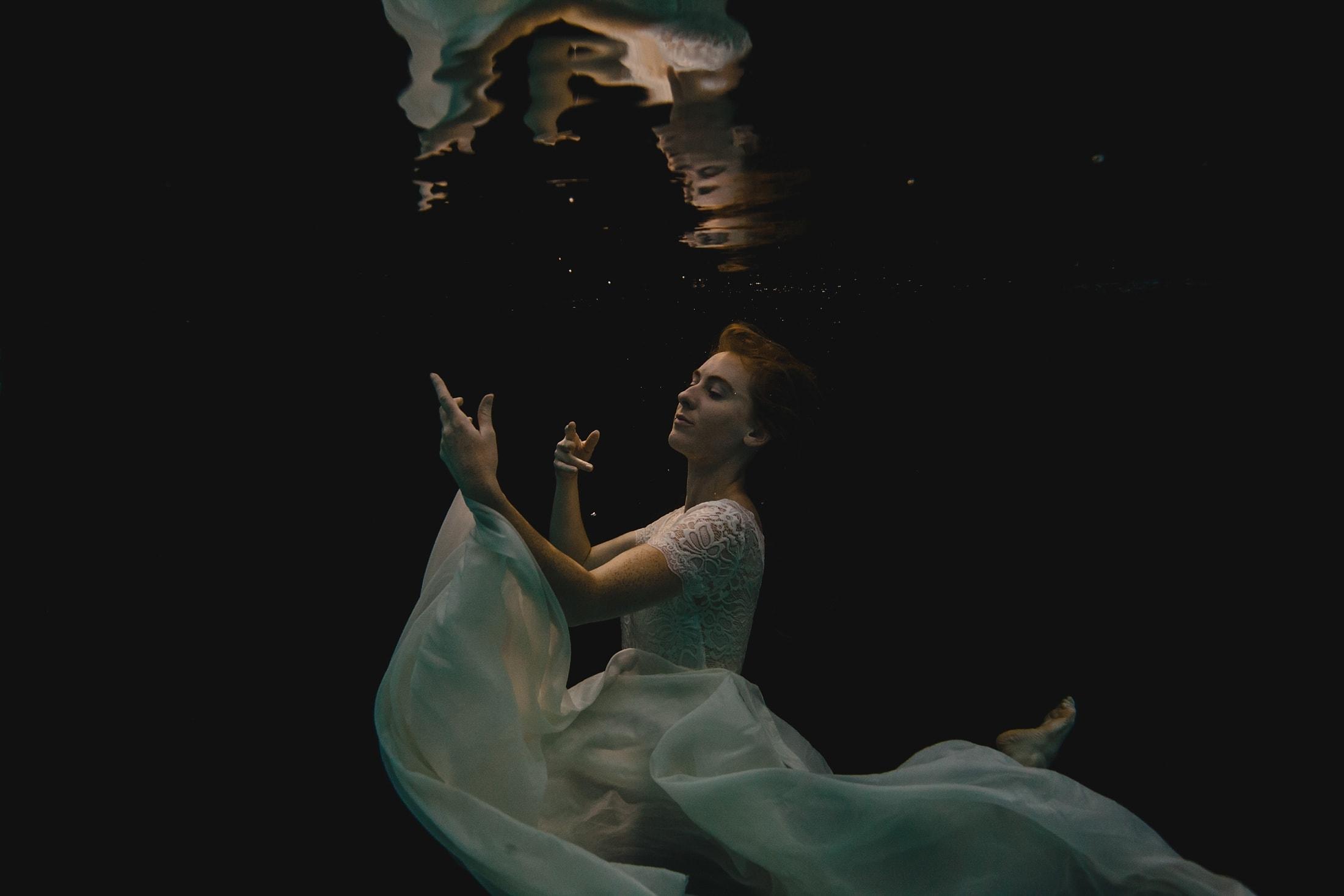 underwater dancer portrait