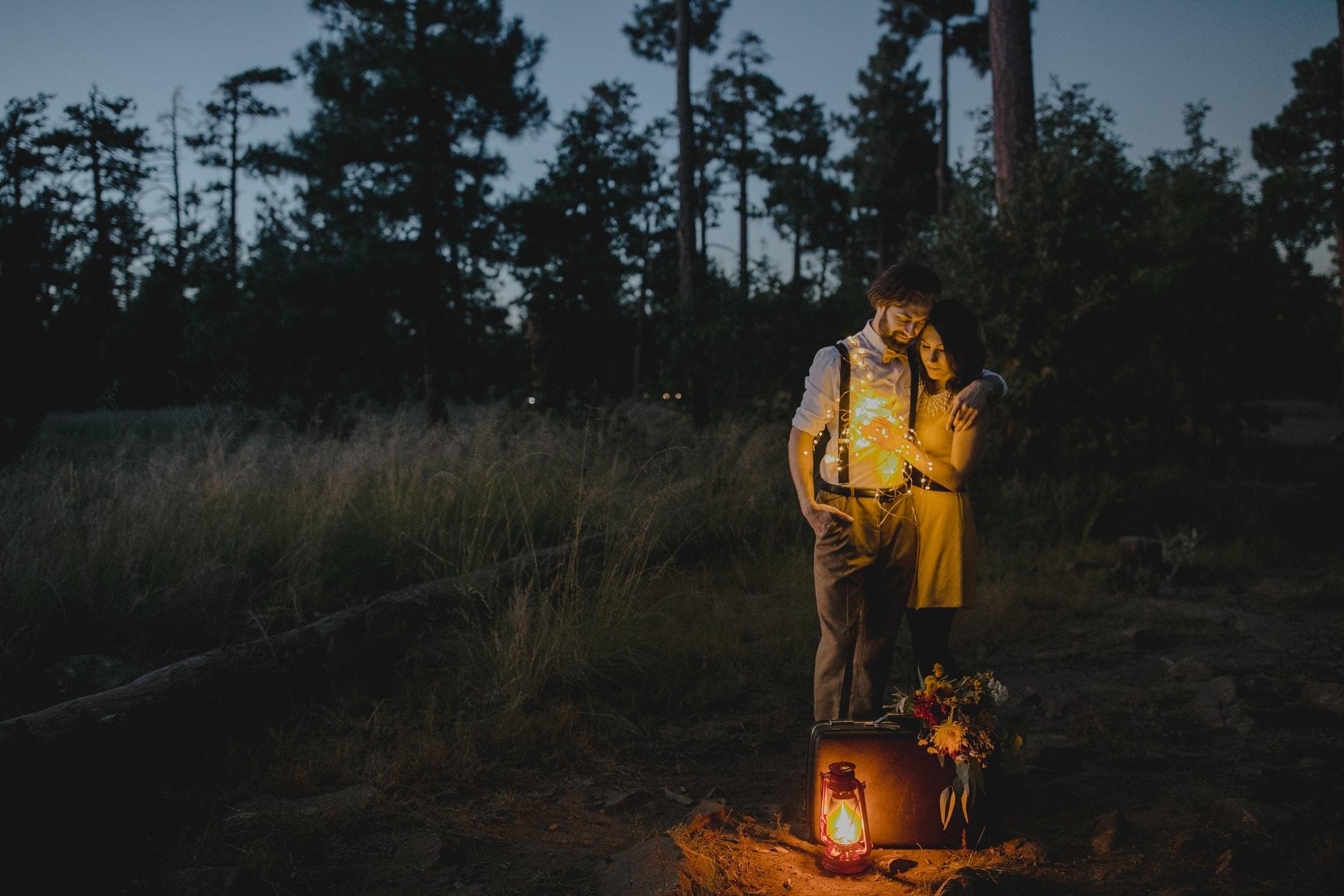 Moonrise Kingdom inspired engagement session in Arizona