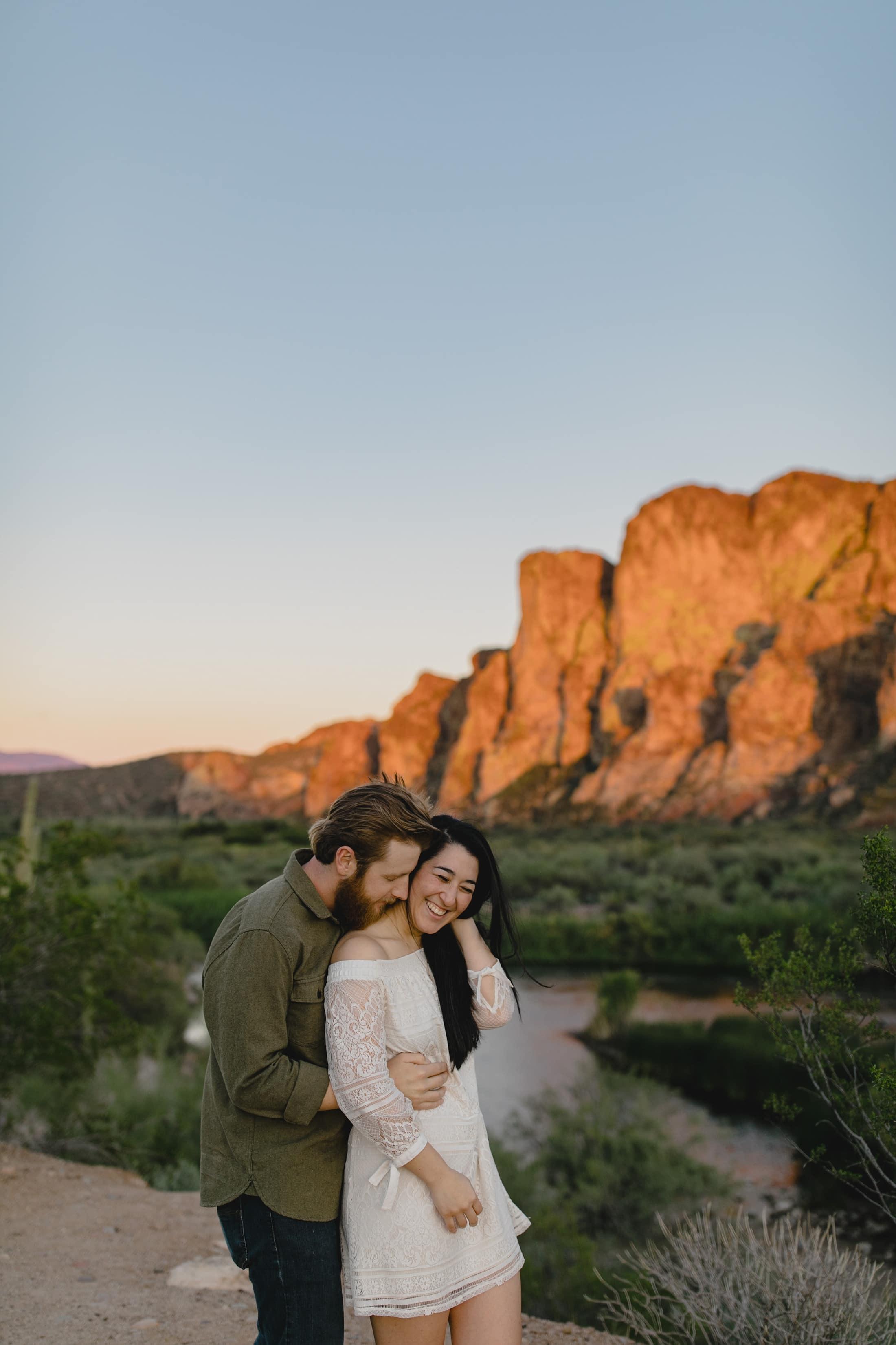 Arizona engagement photos Salt River