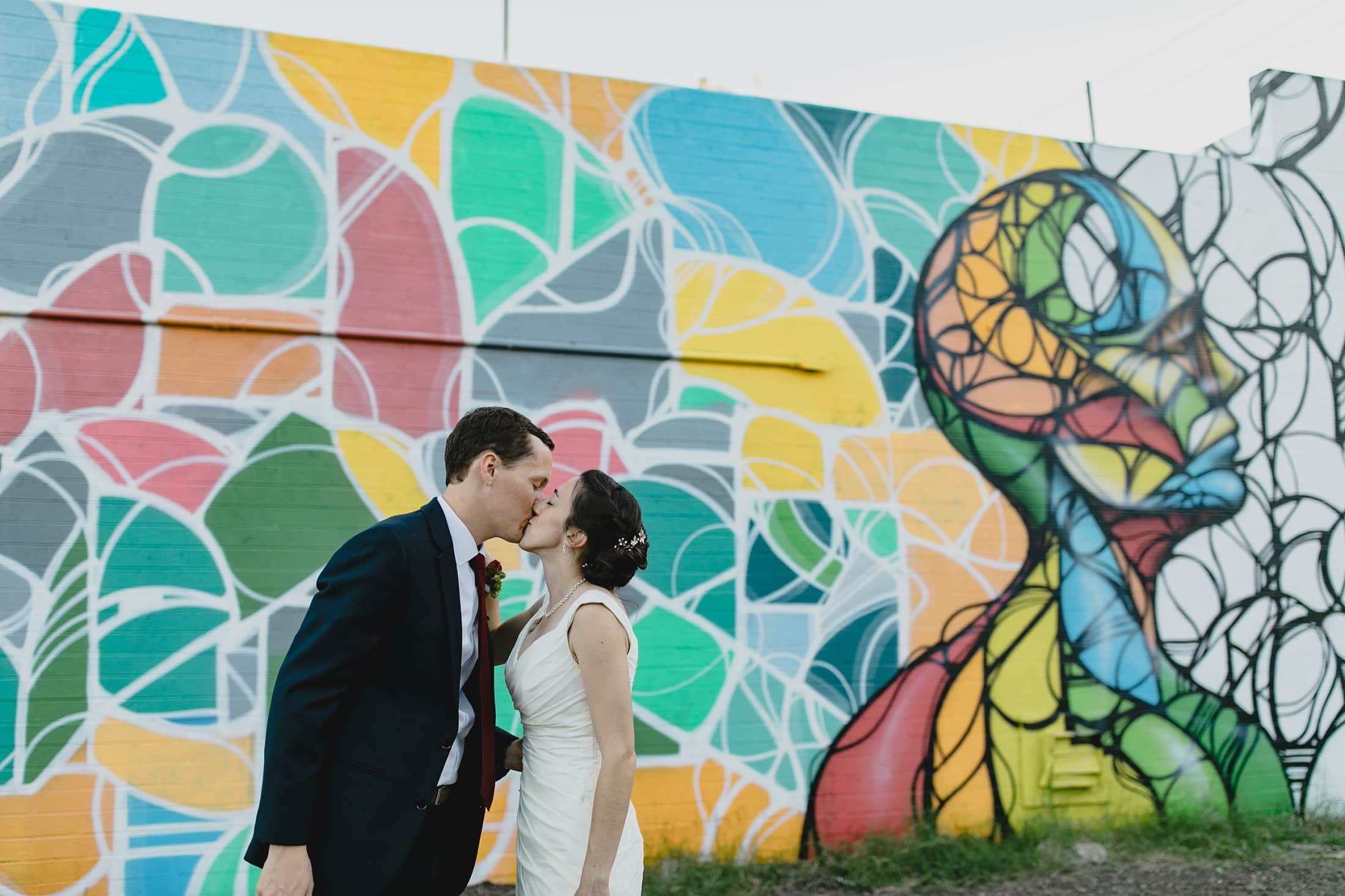 colorful downtown Phoenix wedding Roosevelt Row