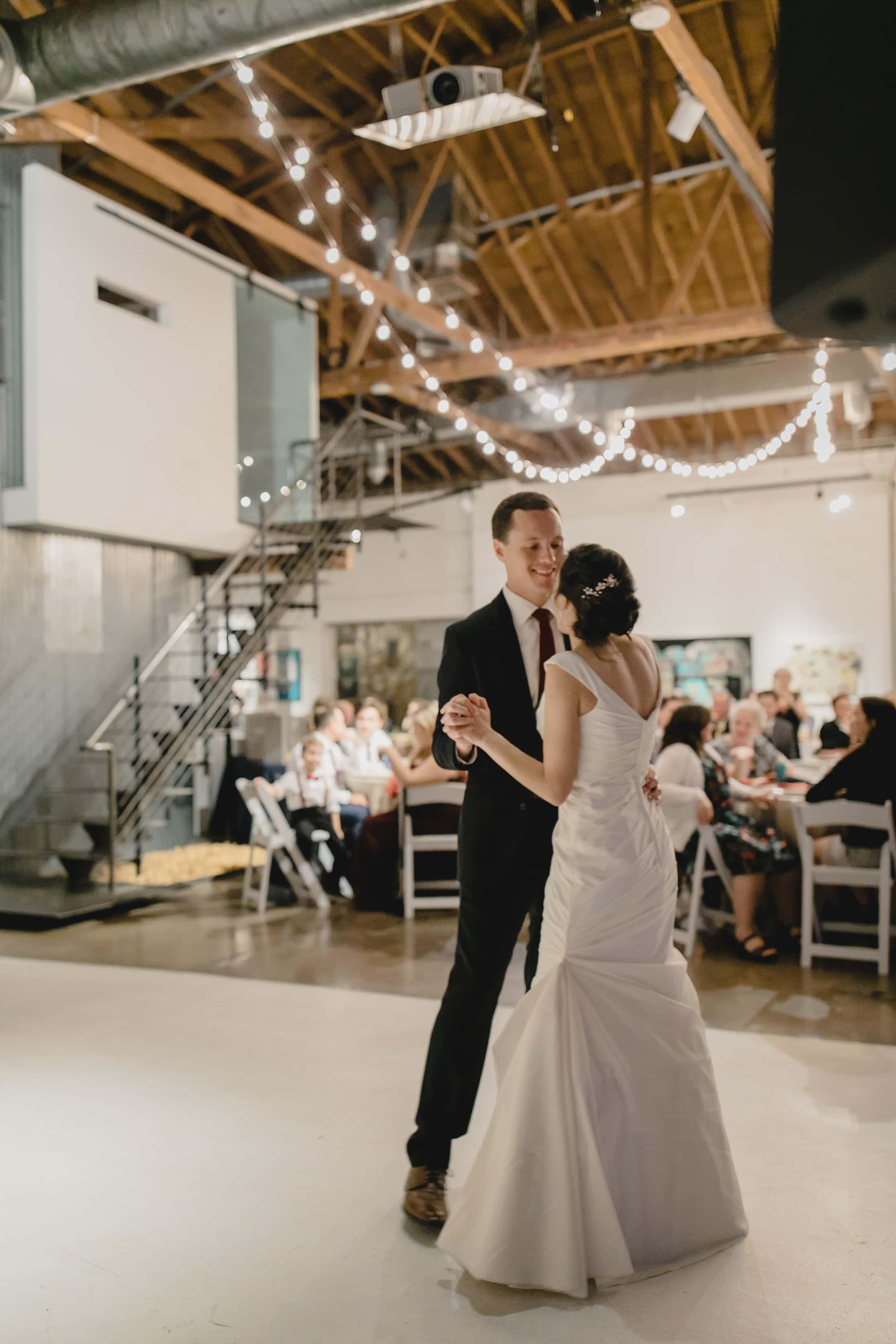 Monorchid wedding reception