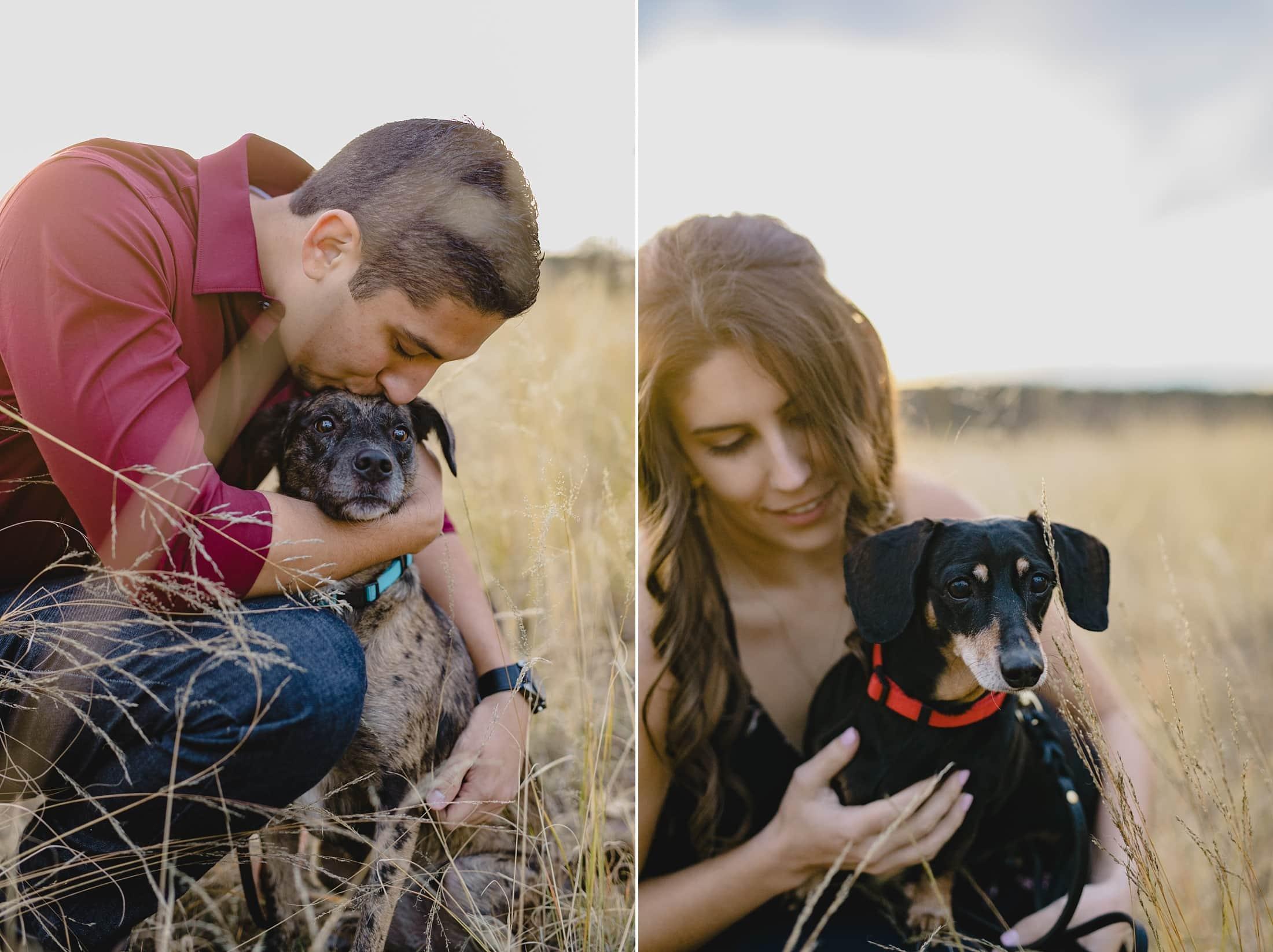 Arizona engagement photos with dogs