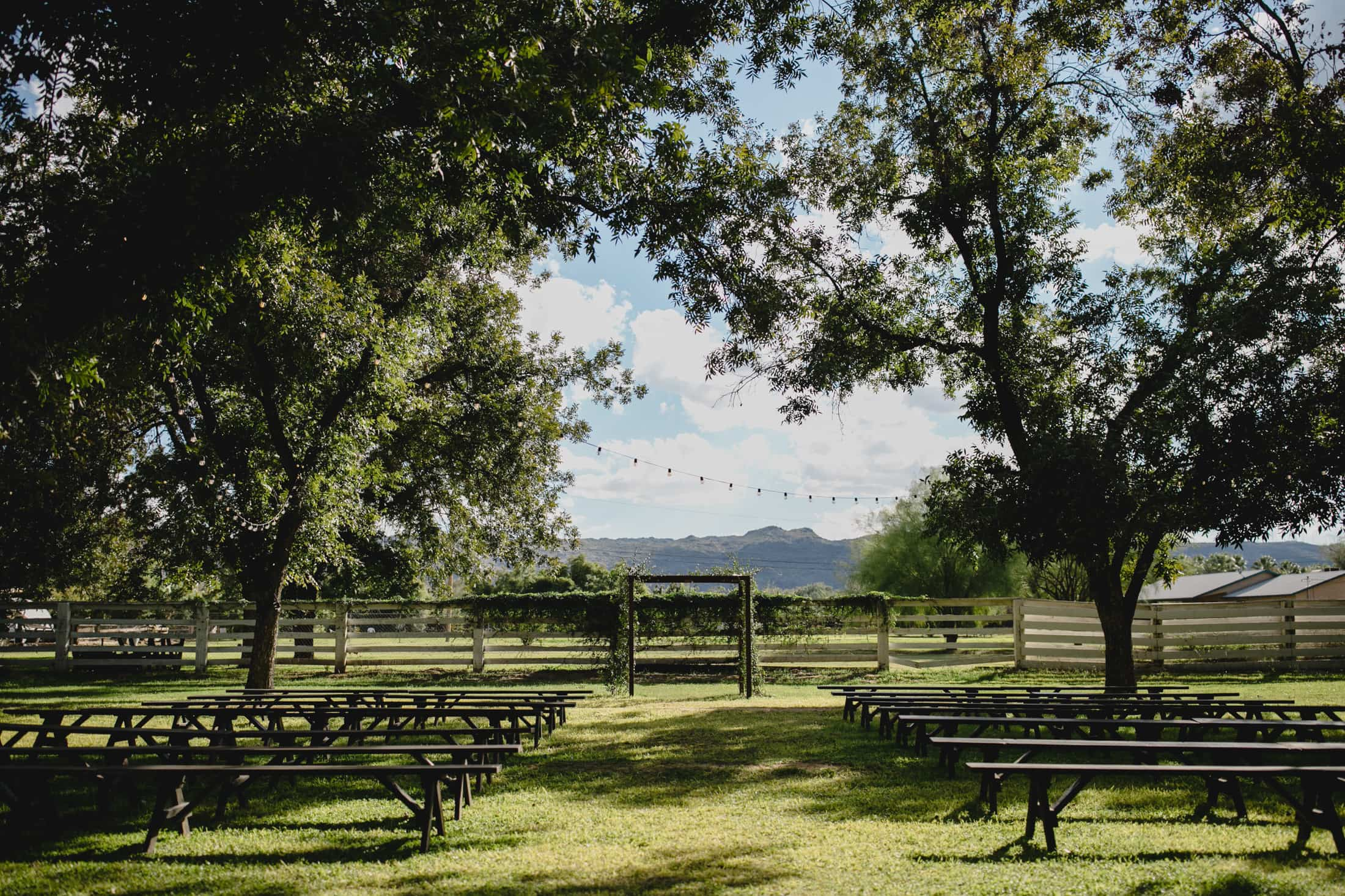 The Farm at South Mountain wedding ceremony