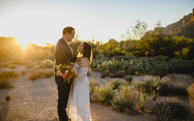 Intimate Desert Wedding in the Superstition Mountains- Andrea & Keane