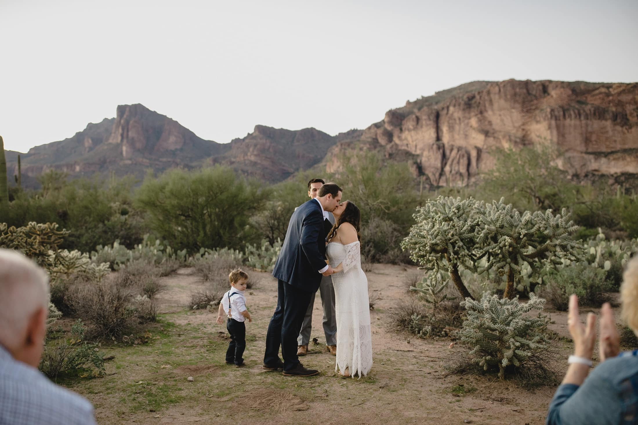 small wedding in Arizona Superstition Mountains