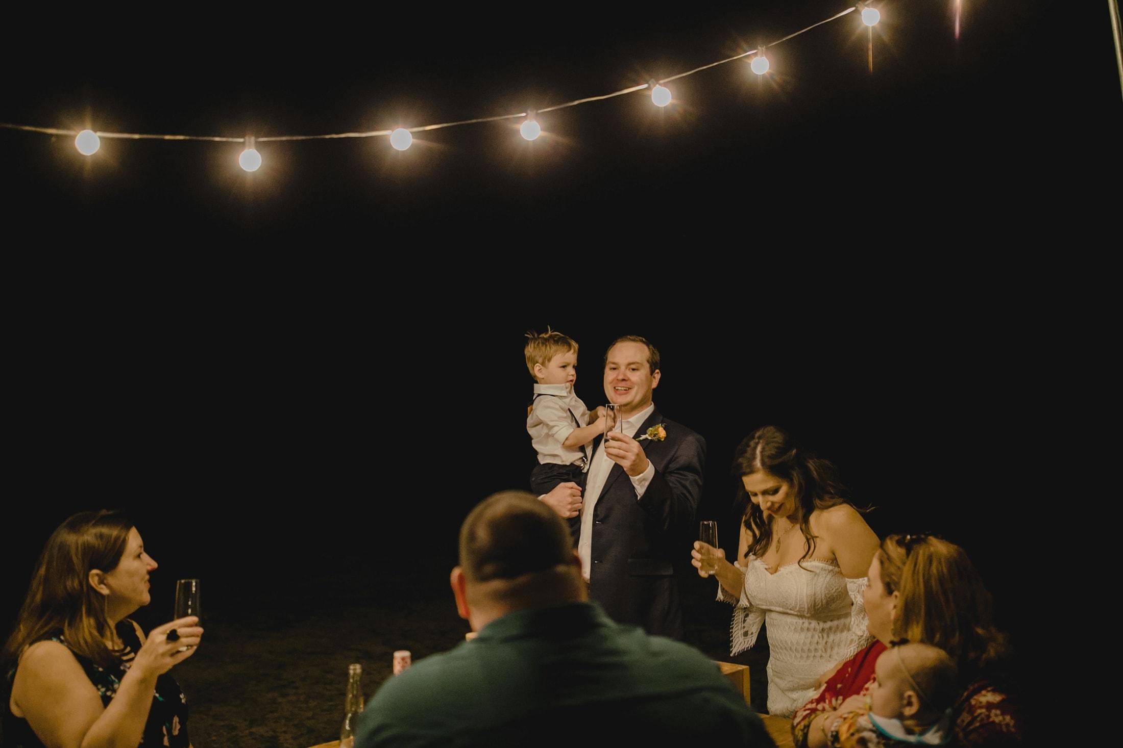 wedding toast outdoor small wedding in Arizona