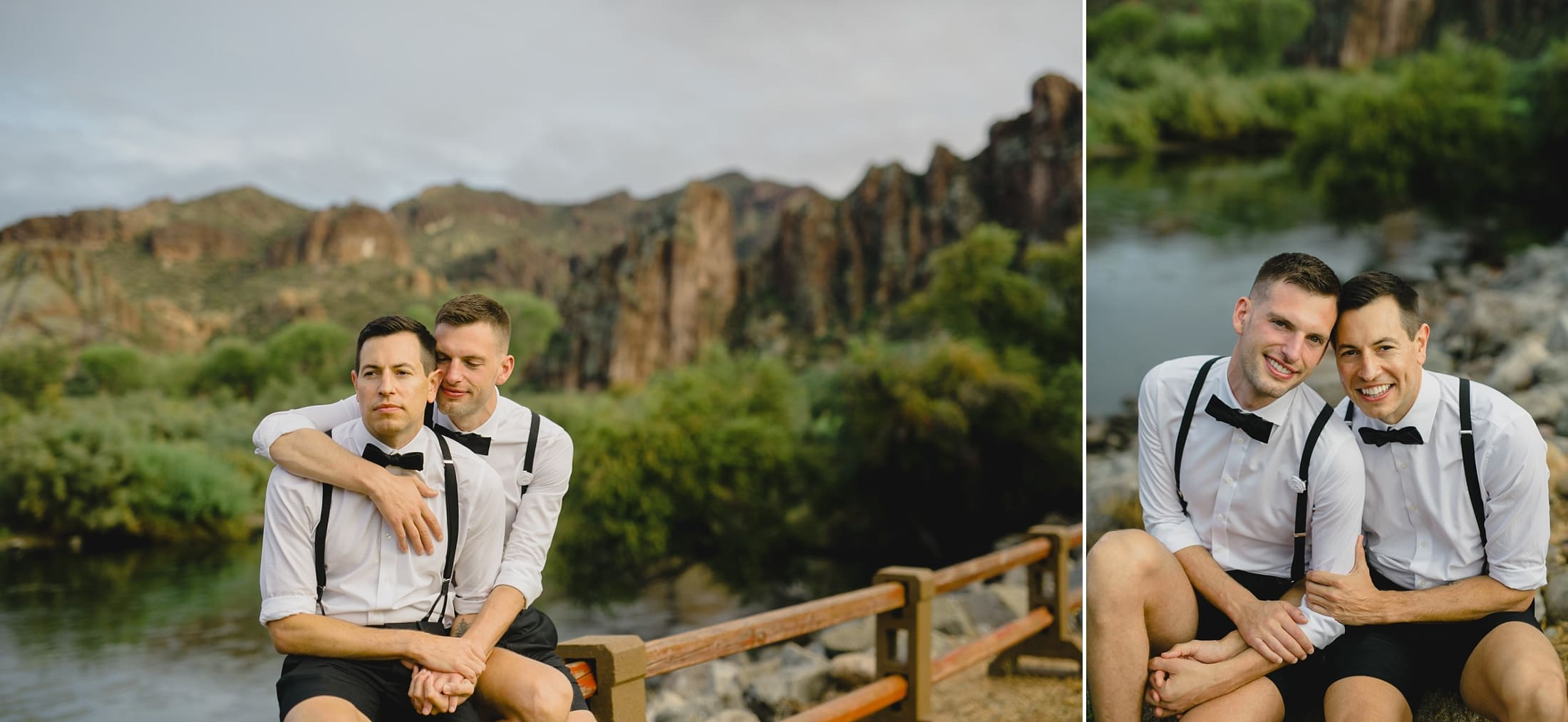 gay wedding at Saguaro Lake Ranch Arizona