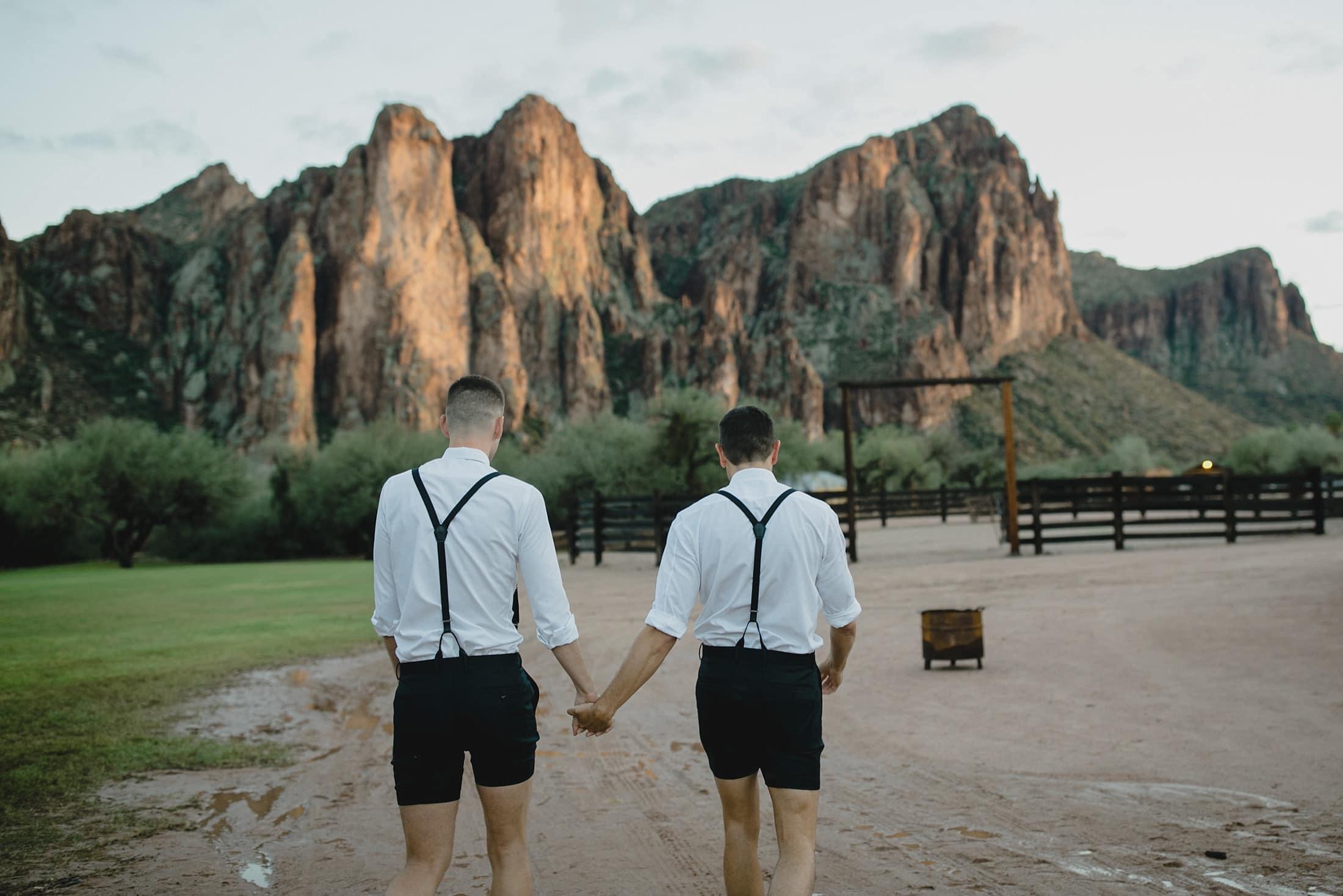 Saguaro Lake Ranch gay wedding photos
