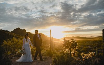 Relaxed Superstition Mountains Desert Wedding at Cloth and Flame