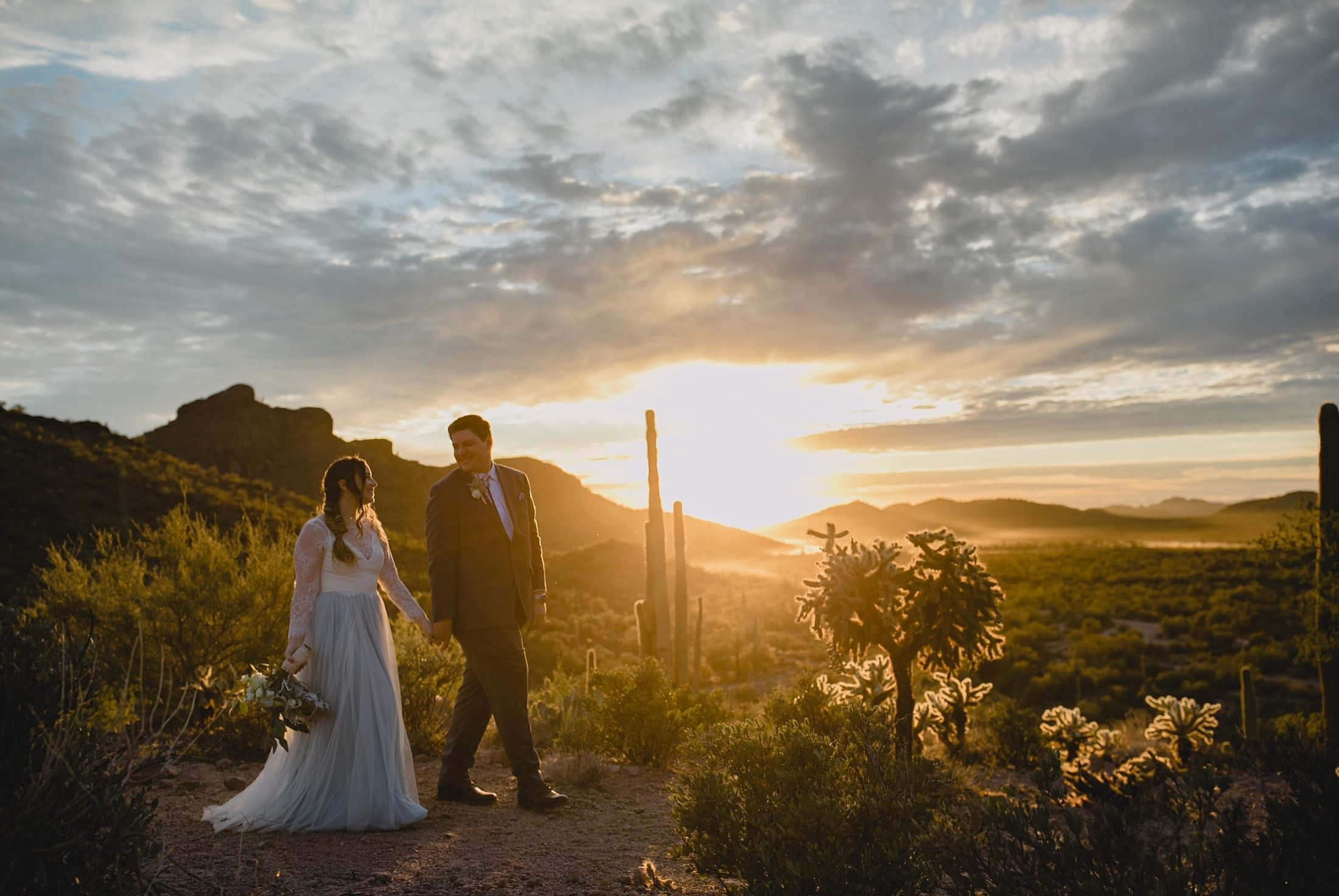 Arizona desert wedding