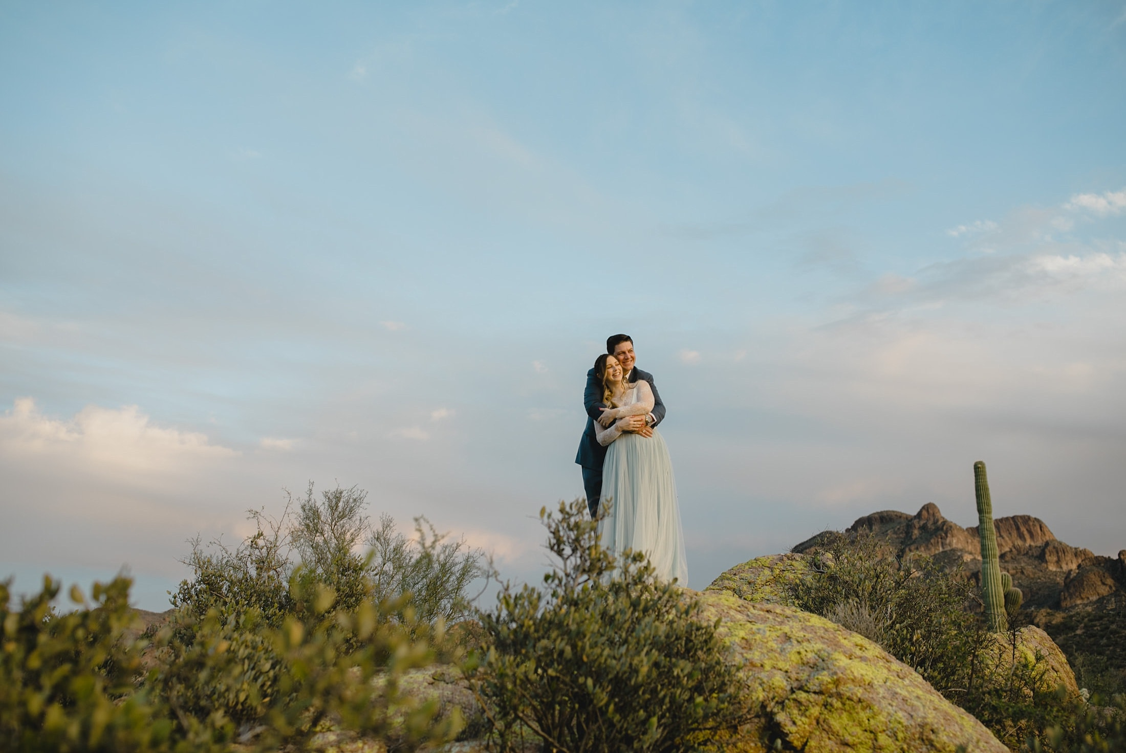 small desert wedding in Arizona