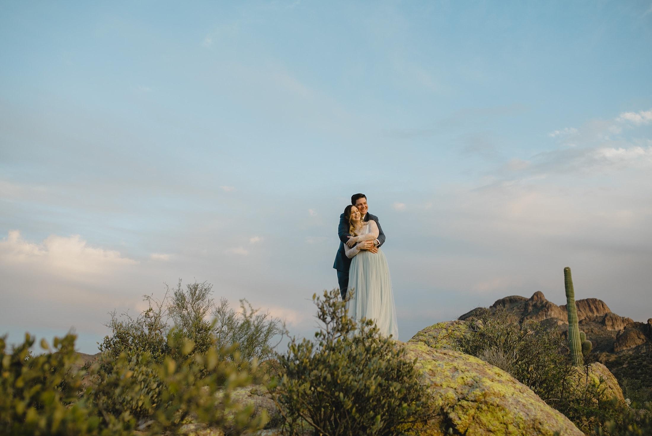 small desert wedding in Arizona