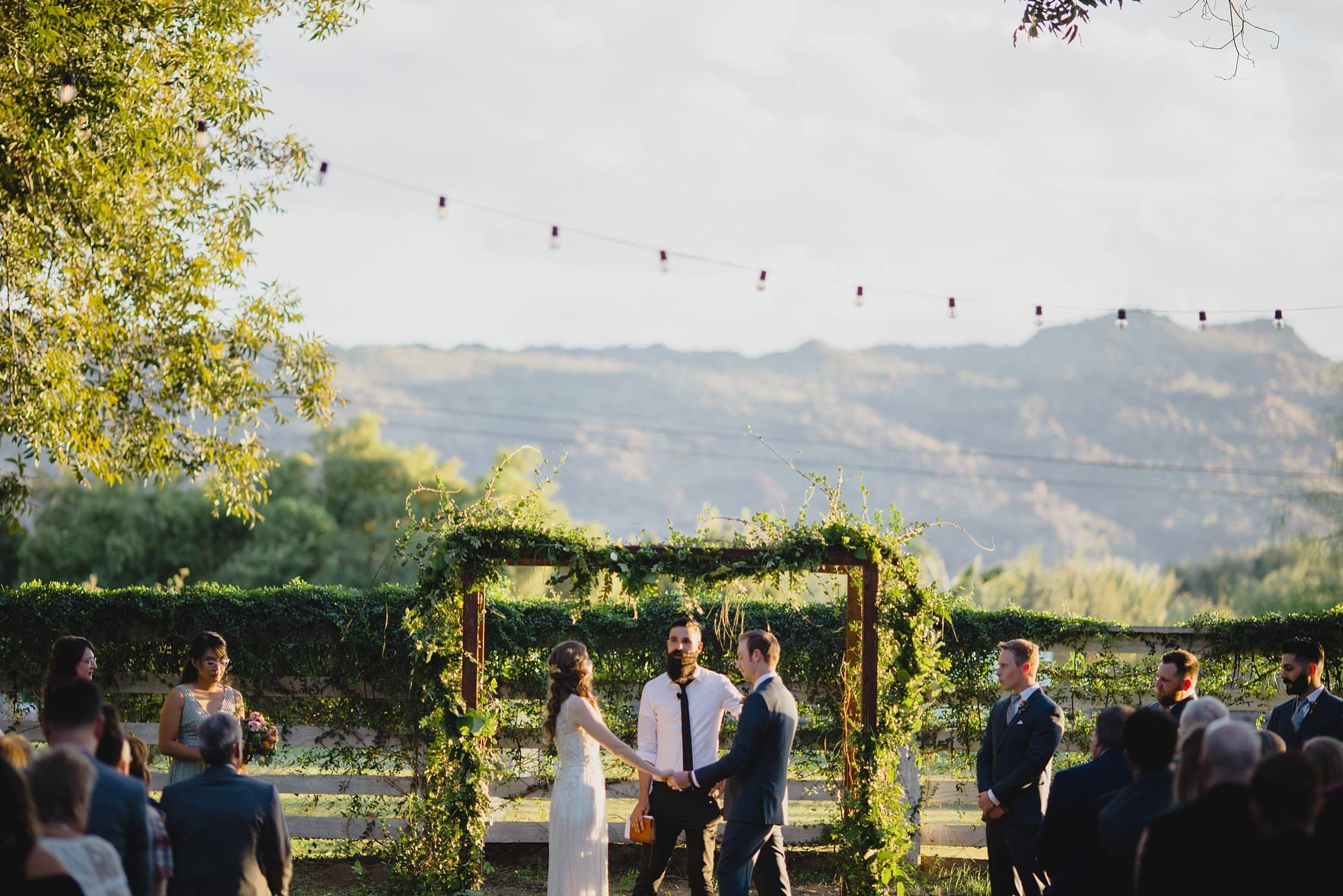 farm at south mountain wedding ceremony