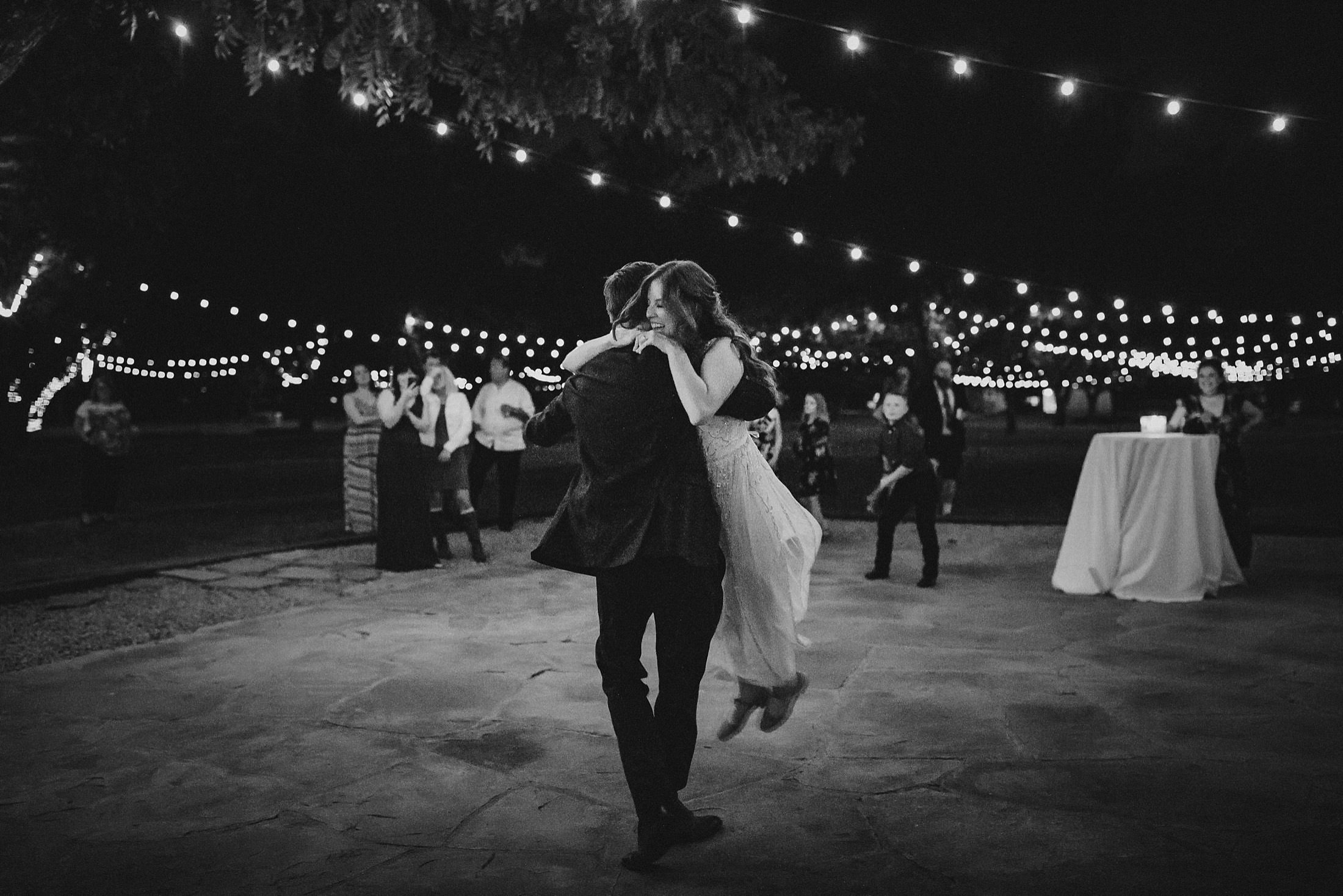 first dance Farm at South Mountain wedding reception