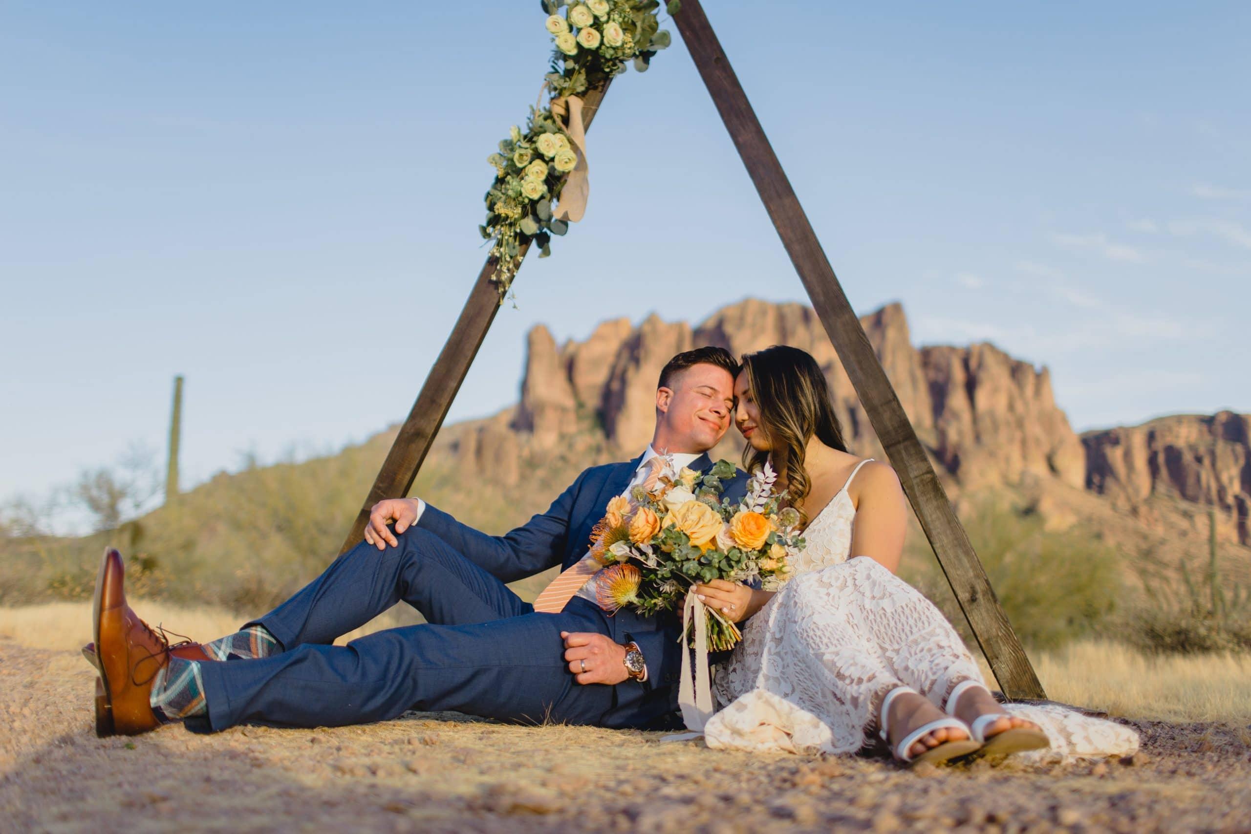 Superstition Mountains wedding elopement