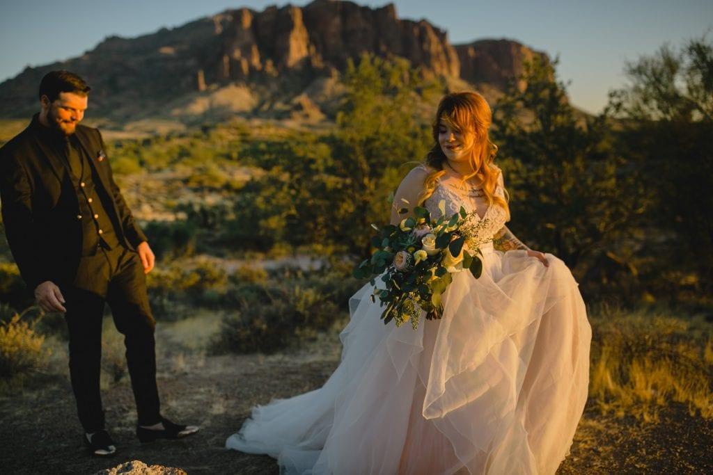 Superstition Mountain wedding
