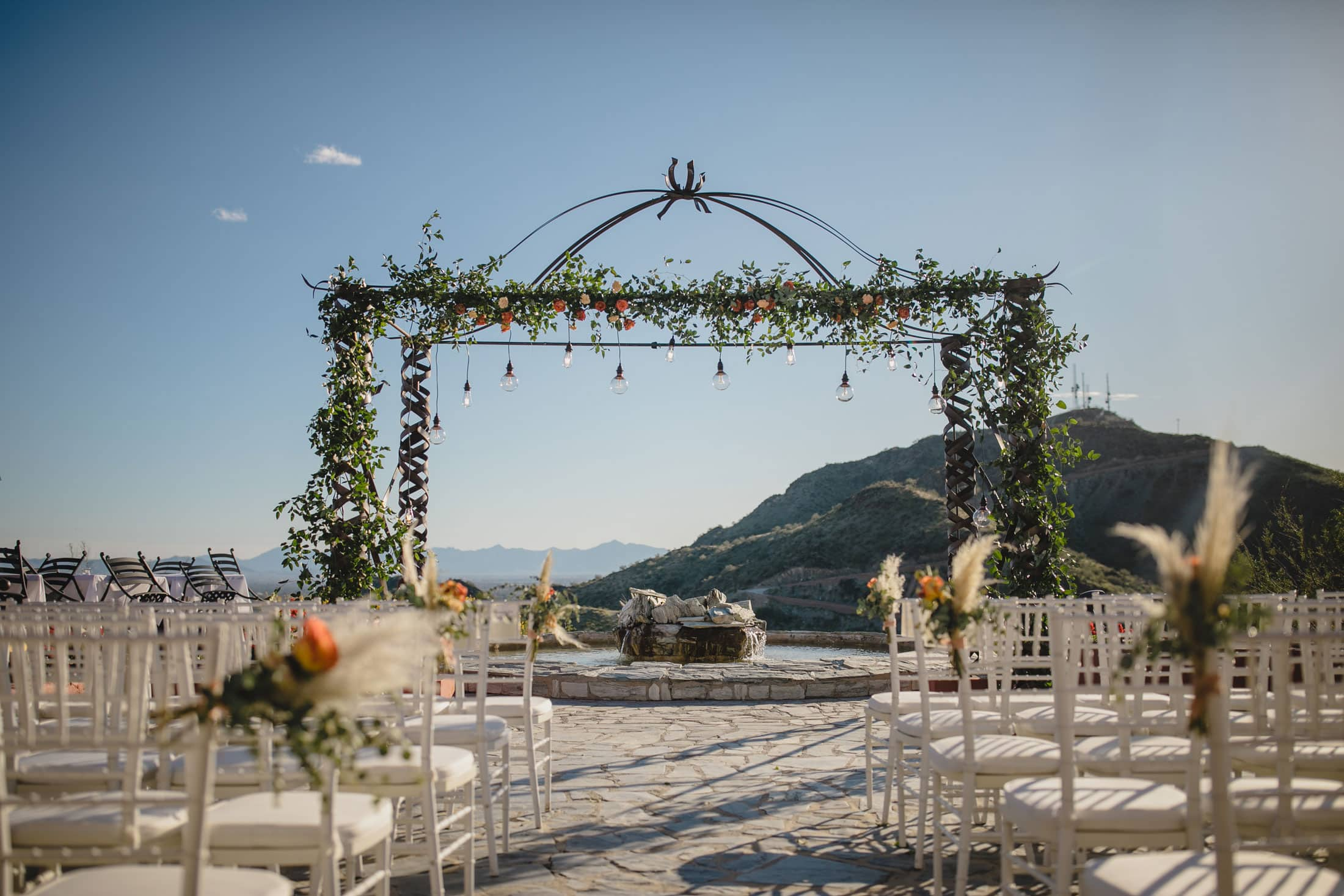 Different Pointe of View wedding ceremony