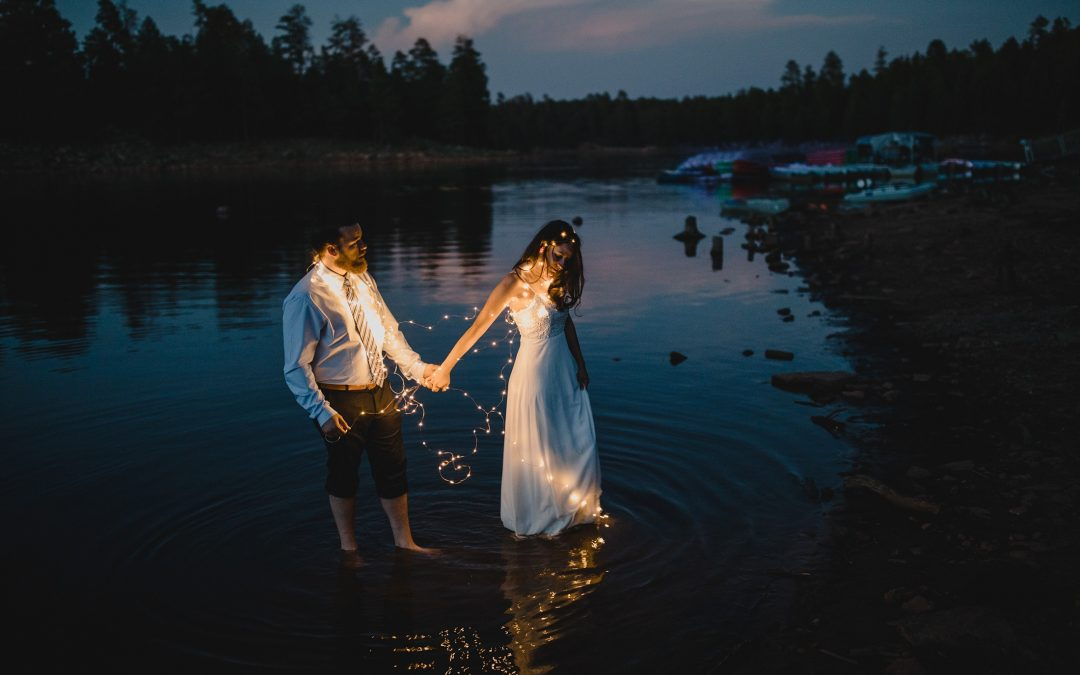 Summer Woods Canyon Lake Elopement