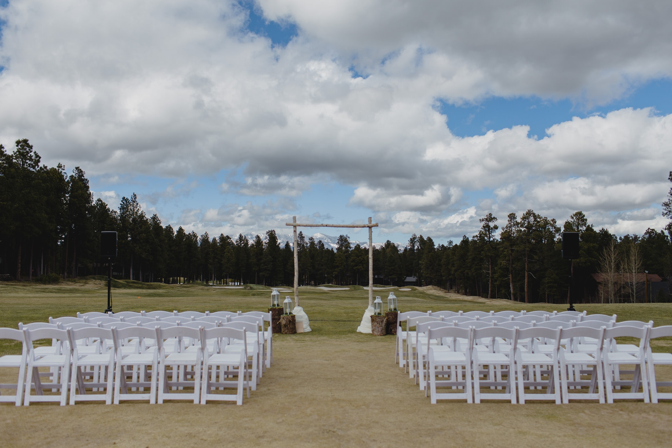 Forest Highlands Golf Course wedding ceremony