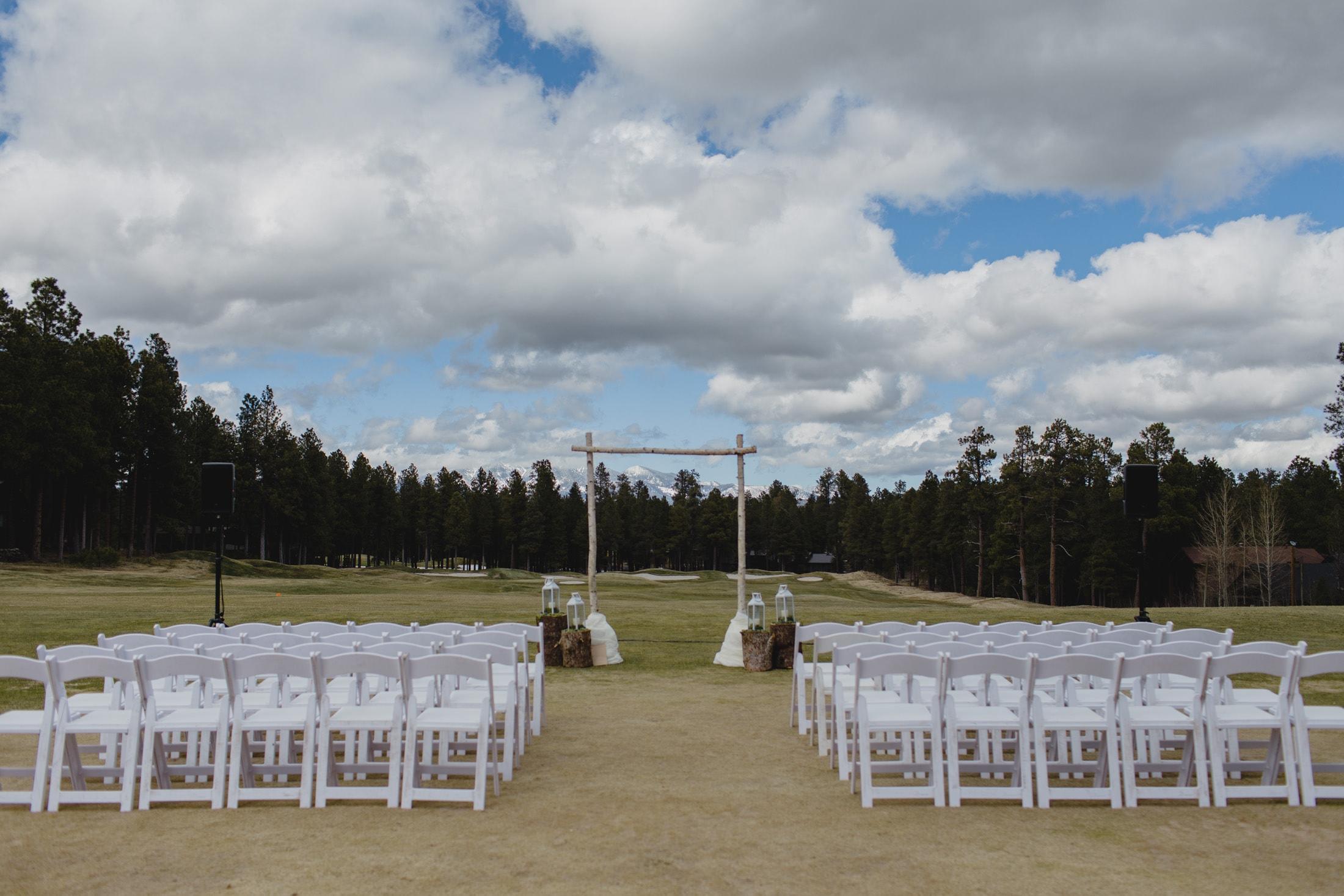 Forest Highlands Golf Course wedding ceremony