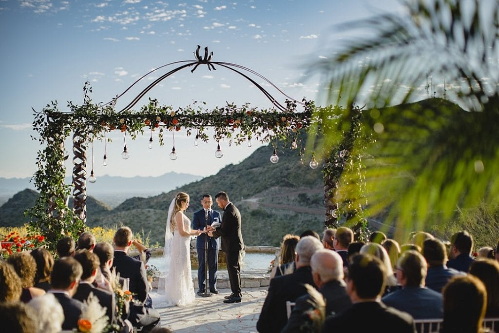 mountaintop wedding venue ceremony in Phoenix Arizona