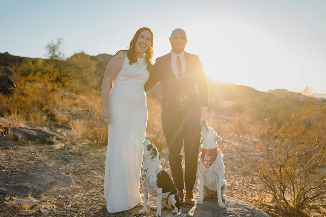 South Mountain elopement with dogs